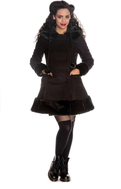 Sarah Jane Coat in Black