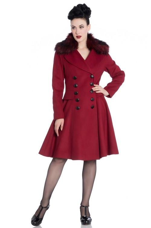 Milan Coat in Deep Red