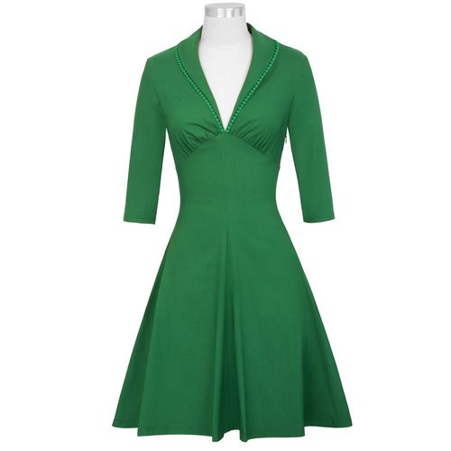 Cybill Dress in Green or Navy