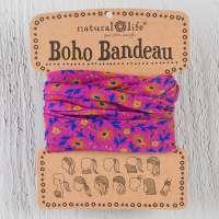 Fuschia Floral Boho Bandeau