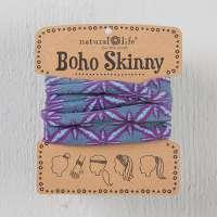 Aqua Purple Burst Skinny Boho Bandeau