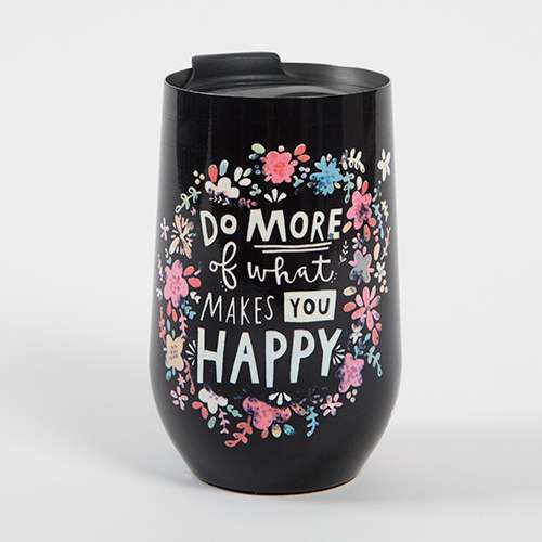 Do More Happy Wine Tumbler