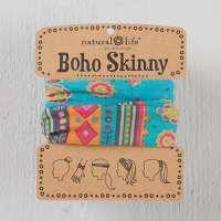 Turquoise Medallion Skinny Boho Bandeau
