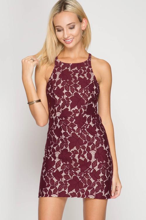 Bodycon Lace Mini Dress