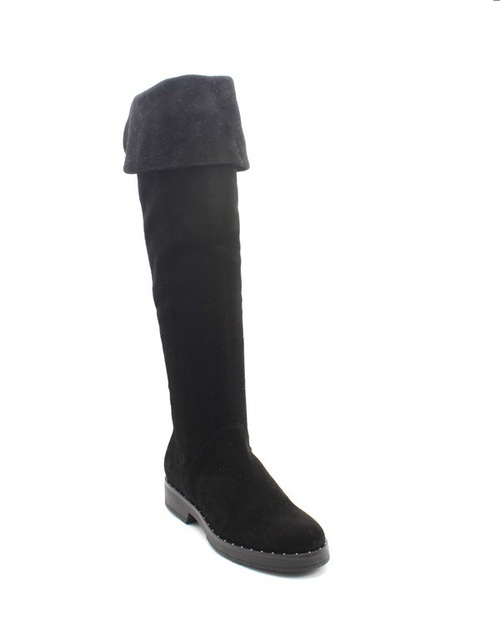 Black Suede Over-the-Knee / Studded Riding Boots