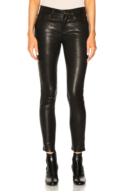 CALFSKIN LEATHER JEANS