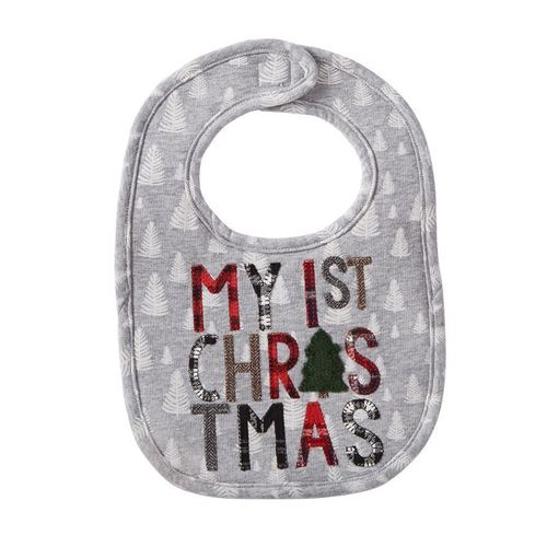 My 1st Christmas Mountain Bib