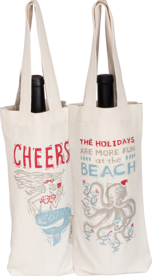 Cheers Mermaids Wine Tote