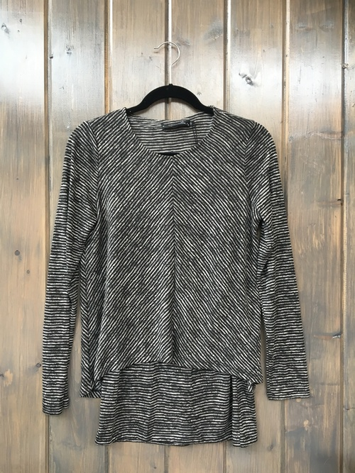 Striped Double Layer Black Tunic
