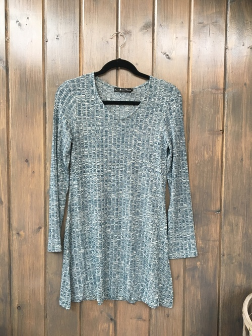 Ribbed Knit Teal Tunic