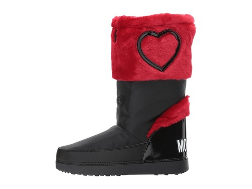 Heart Red / Black Winter Snow Boots