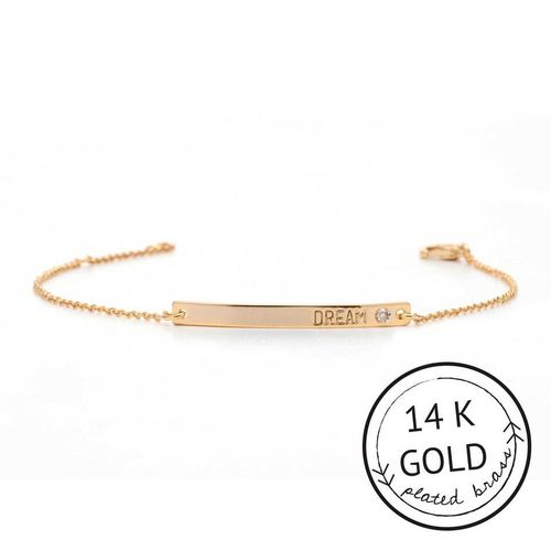 Dream 14k Gold Plate Boxed Bracelet