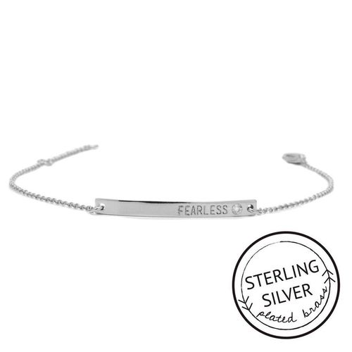 Fearless Sterling Silver Boxed Bracelet