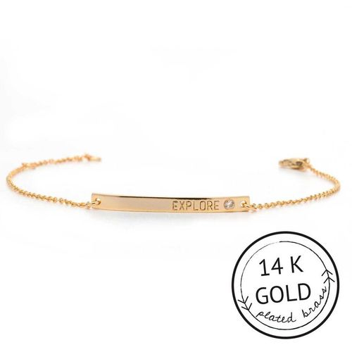 Explore 14k Gold Plate Boxed Bracelet