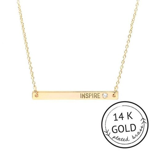 Inspire 14k Gold Plate Boxed Necklace