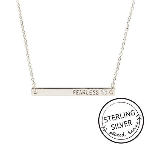 Fearless Sterling Silver Boxed Necklace