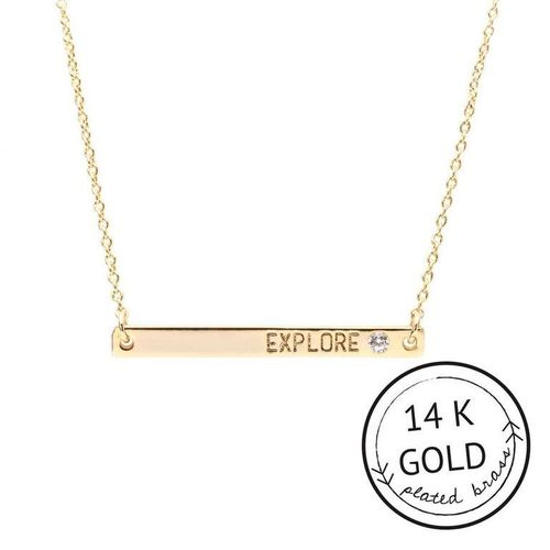 Explore 14k Gold Plate Boxed Necklace