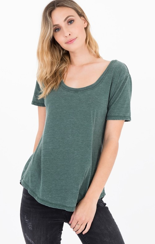Scoop Neck Tee Pine