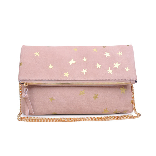 Fold Over Blush North Clutch