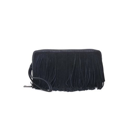 Fringed Black Sasha Wallet