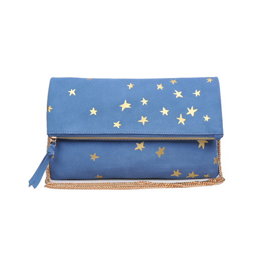 Fold Over Blue North Clutch