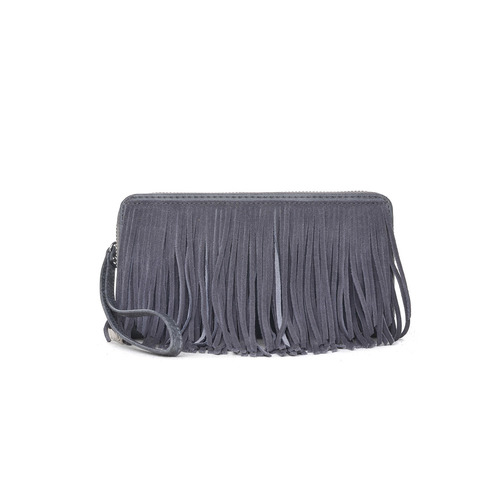 Fringed Grey Sasha Wallet