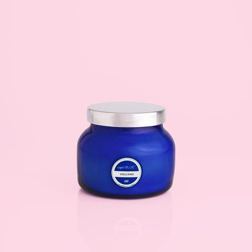 Blue Petite Jar Volcano Candle 8oz