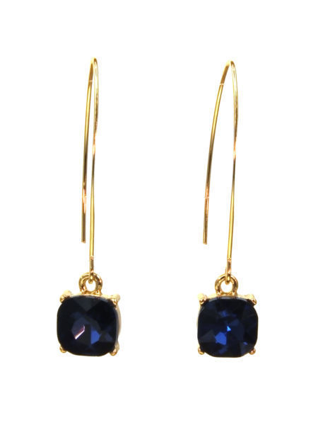 Hanging Crystal Earrings Midnight