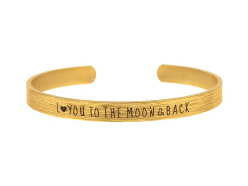 Gold Love you to the Moon and Back