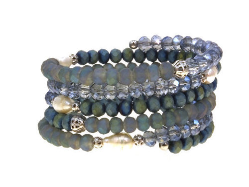 Memory Wire Beaded Wrap Bracelet