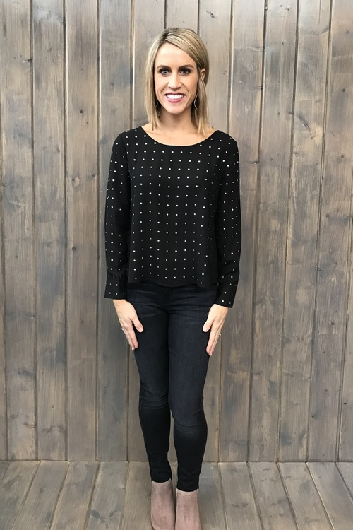Mead Silver Stud Blouse
