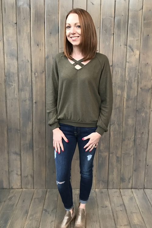 Paths That Cross Cozy Sweater