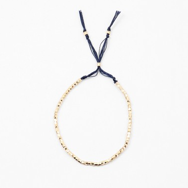 Seed Bead Gold Pull Bracelet