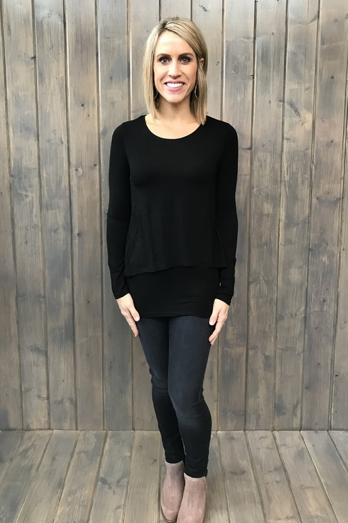 Double Layer Black Tunic