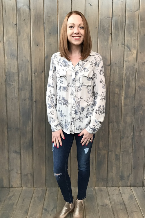 Camila Floral Print Blouse