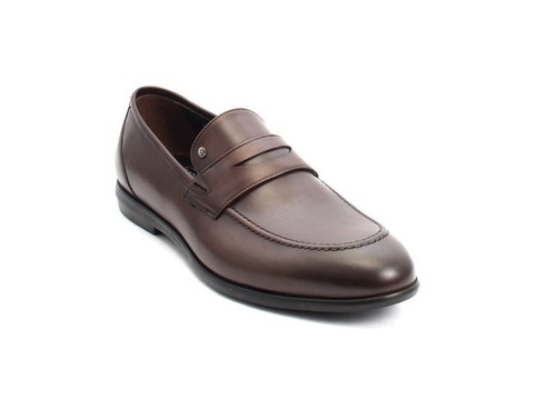 Brown Nappa Leather Classic Dress Shoes
