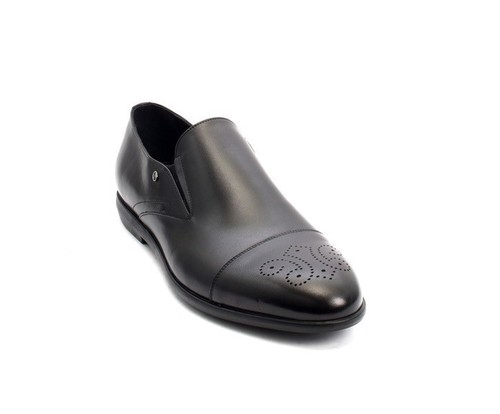 Black Leather Classic Dress Shoes