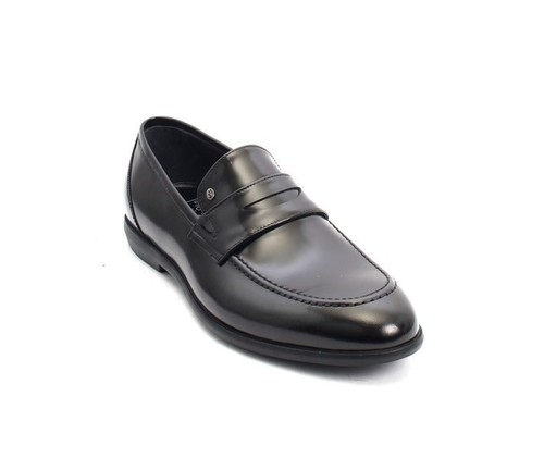 Black Perlato Leather Classic Dress Shoes