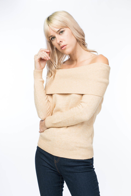 Thick Off Shoulder Sweater