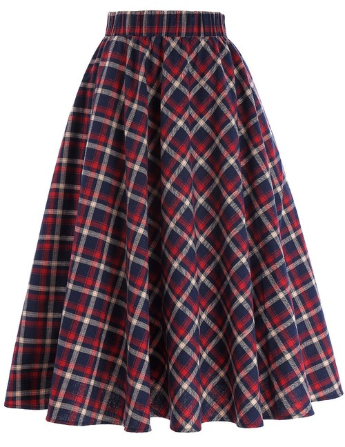 Highland skirt in Red/Blue tartan