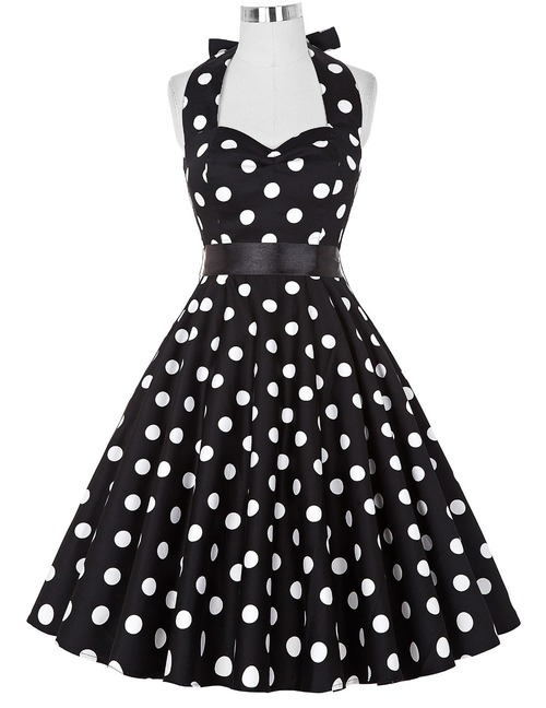Ginger 50's Dress (Black or Red)