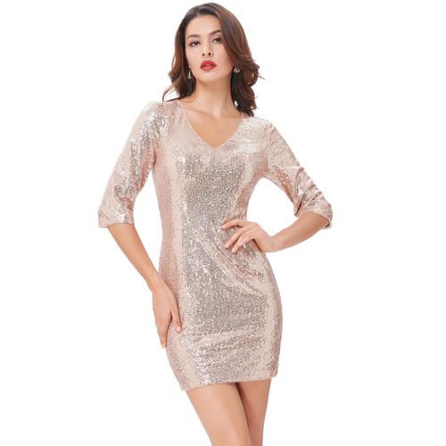 Tina Dress in Cream Gold
