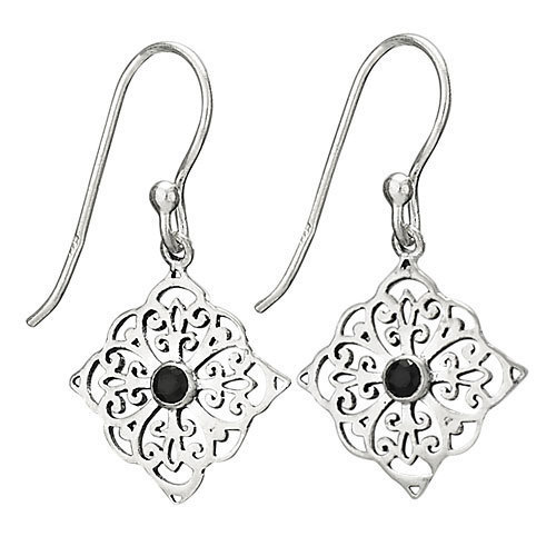 Small Facet on Square Earrings
