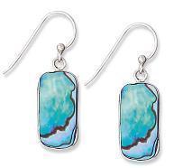 Rectangle Abalone Earrings