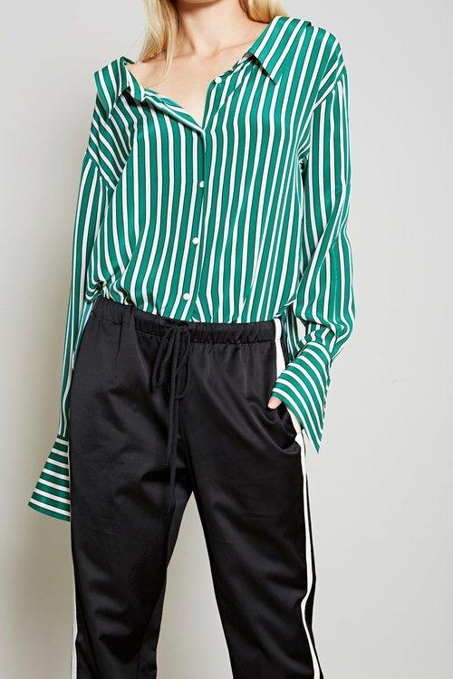 Stripe Gathered Back Shirt