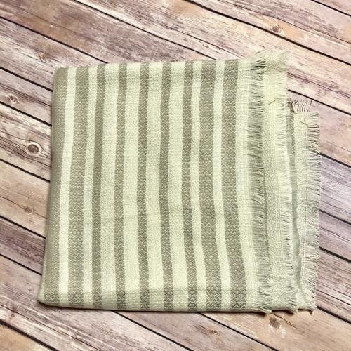 Beige Stripe Blanket Scarf