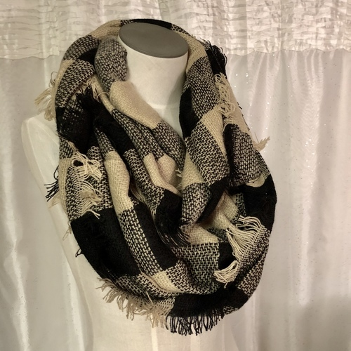Large Plaid Infinity Scarf