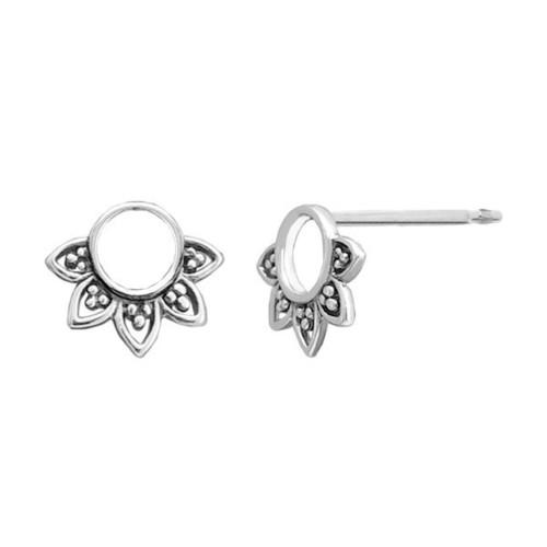 Balinese Flower Stud Earrings