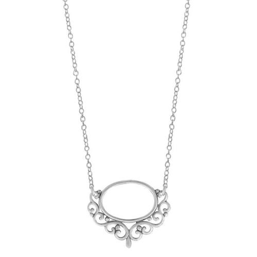 Oval Balinese Filigree Necklace
