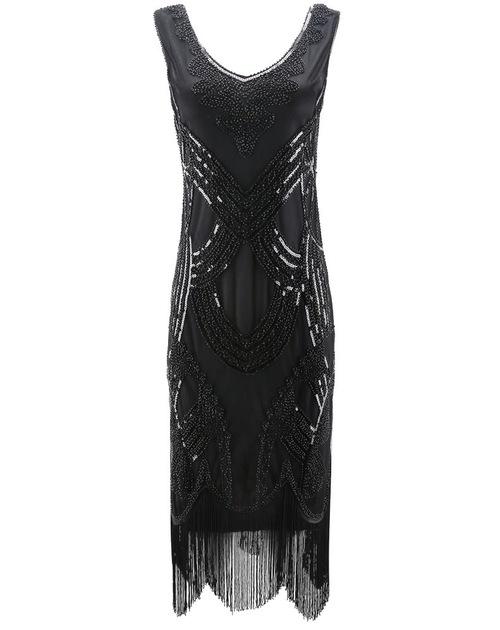 Roxi Flapper Dress Black